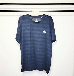 Adidas Men'a Climalite CZ7642 AK4003 Blue & Black Striped T-Shirt Size XL