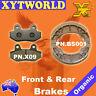 FRONT REAR Brake Pads Shoes KYMCO Active SR 50cc 2008 2009 2010 2011