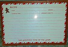 NIP Hallmark Gingerbread Man Upper Left 36 Christmas Recipe Refill Cards 4x6
