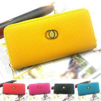FOSSIL Damen Geldbörse Portemonnaie Lang Brieftasche Tasche Clutch Schwarz Gelb