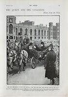 1900 Estampado Reina & The Canadians Hogar De Guerra