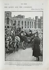 1900 PRINT QUEEN & THE CANADIANS HOME FROM WAR