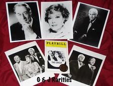 Rex HARRISON, Glynis JOHNS + Stewart GRANGER - 'The Circle' - Playbill + Photos