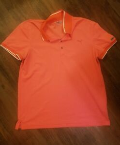 Womens Puma Sport Lifestyle Golf Polo X-Large XL Orange Coral Top Athletic