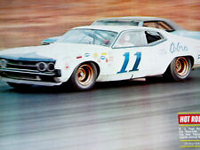 1970 FORD TORINO COBRA STOCK CAR-VINTAGE NASCAR/FOYT-print/poster/picture/photo