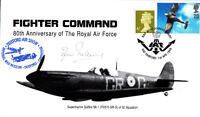 80th Anniv RAF Fighter Command Signed J Pickering  Sqn Battle of Britain Pilot