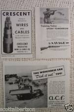 FARQUHAR AXELSON LATHES SAVAGE RIFLE  WW2 1945 OLD  ADS