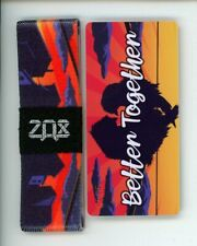 Medium ZOX Silver Strap BETTER TOGETHER Wristband with Card Reversible