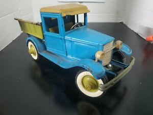 1960's Buddy L FORD MODEL A Pick Up Truck w Dumper Pressed Steel MADE IN JAPAN