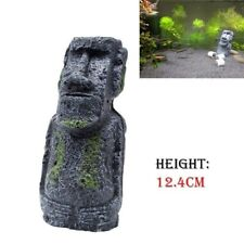 Easter Island Mini Statue Fish Tank Aquarium Decoration Ornament Accessory Retro