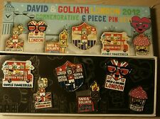 David & Goliath London 2012 Olympic Pin Commemorative Set of 6 Different New