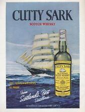 1960 Cutty Sark PRINT AD Scotland's Best Sailing Ship