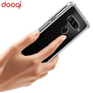 For LG Q60 / K50 / K12 Prime Shockproof Silicone Soft Bumper Clear TPU Back Case