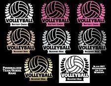 Volleyball Custom Team/School Permanent Vinyl Decal