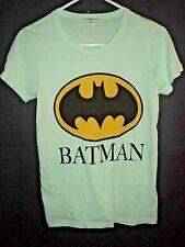 JunkFood Batman Logo Green Shirt Womens Size Small NEW! Junk Food