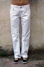 Meltin Pot Blanc Denim Jeans RT Mark Straight Leg Jeans W33 UK 16 très bonne