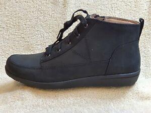 Vionic Ladies Comfort Boots NEW Leather Black UK 7 EUR 41 US 9