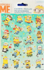Despicable Me Minion Made Stickers 4 Pages 72pc Universal Studios Ships Free New