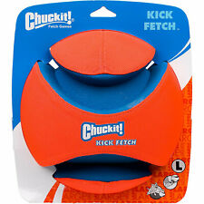 Chuckit! Dog KICK FETCH Durable Canvas Toy Ball Will Not Deflate LARGE 8-inch