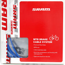 SRAM Brake Cable System, MTB Stainlese Brake Cable & Housing Kit, Blue