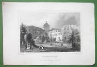 GERMANY Ruprecht Building in Heidelberg Castle - 1845 Antique Print