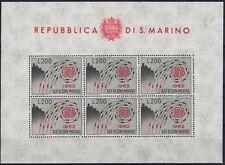 1962 San Marino Europa - £. 200 grigio e rosso MNH** Foglietti