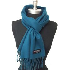 New 100% CASHMERE SCARF MADE IN SCOTLAND SOLID DESIGN SUPER SOFT UNISEX ,Teal