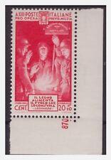 REGNO 1935  -  QUARTA MILIZIA  CENT  20   NUOVO  **   NUMERO DI TAVOLA
