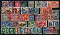 PP135180/ FRANCE STAMPS – YEARS 1906 - 1931 USED SEMI MODERN LOT – CV 174 $