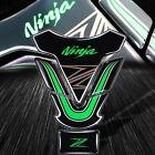 3D Gel Gas/Fuel Tank Pad Decal/Sticker Kit Reflective Ninja Logo ZX-6R-14R Green