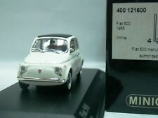 WOW EXTREMELY RARE Fiat 500F Closed Roof 1965 White 1:43 Minichamps-850/ Spark