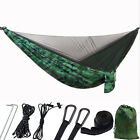 Double Camping Hammock with Mosquito Net Tent Hanging Swing Bed Outdoor Patio