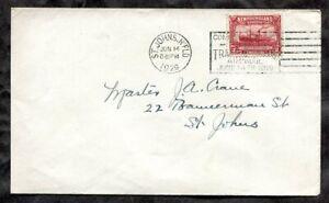p03 - NEWFOUNDLAND 1929 St John's Slogan on Local Cover