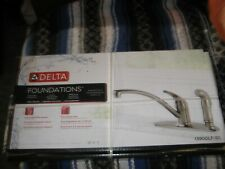 NIP DELTA FOUNDATIONS SINGLE HANDLE KITCHEN FAUCET WITH INTEGRAL SPRAY STAINLESS
