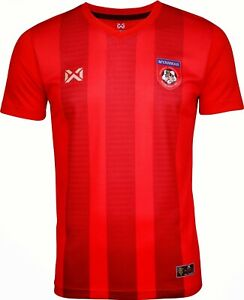 100% Authentic 2020 Myanmar National Football Soccer Team Jersey Shirt Red