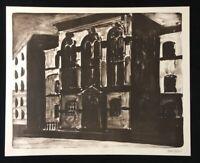 Henrik Hold, ohne Titel, Tusche-Lithographie, 2002, handsigniert und datiert
