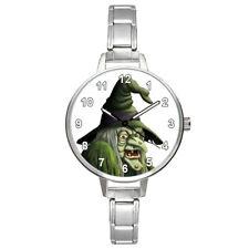 Halloween Ugly Witch Unisex Round Italian Charm Bracelet Wrist Watch BM911