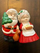 Vintage Santa Mrs. Claus Salt and Pepper Shakers Christmas