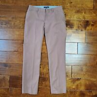 Brooks Brothers Womens Brown Milano Fit Pants Career Office Work Size 4 Stretch