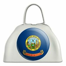 Idaho State Flag White Metal Cowbell Cow Bell Instrument