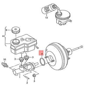 Genuine Gasket between brake servo andbrake tandem master cylinder lhd 357611243
