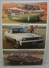1979 PLYMOUTH ARROW CHAMP SAPPORO FIRE HATCHBACK PROMO MOPAR DEALER POSTCARD