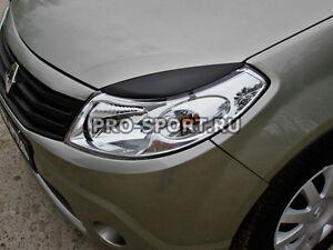 Renault Sandero 2009 2010 2011 2012 2013 paintable headlights eyebrows 2 pcs.