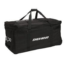 "Sherwood SL700 hockey goalie 38""equipment  bag black 3 wheeled new junior wheels"