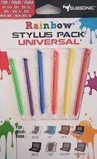 Pack de 6 stylets Multi couleurs Nintendo New 3Ds(XL),2DS,Dsi(xl),3Ds(xl) Neuf