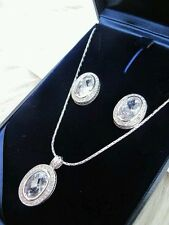 BRAND NEW AND BOXED Pendant and Earrings from Swarovski Elements