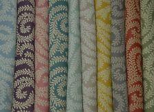 McAlister Textiles Little Leaf | Geometric Vintage Floral Fabric Metre & Samples