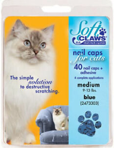 Soft Claws Nail Caps for Cats and Kitten, Size: Medium - Choose Color