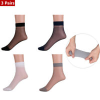 3 Pairs Mens Thin Short Stockings Socks Breathable Absorb Sweat Silk Sports Gift