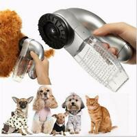 Electric Dog Cat Hair Fur Remover Shedding Grooming Brush Vacuum Cleaner SN9F